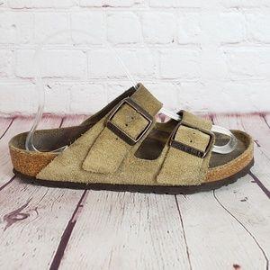 Birkenstock Arizona Suede Leather Slide Sandals